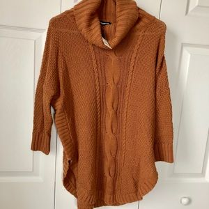 Express Cowl Neck Cable Knit Sweater, Small, NWT